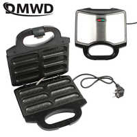 DMWD Electric hot dog waffle maker Non-stick coating Crispy corn French muffin Sausage Baking machine Barbecue for Breakfast EU
