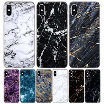 Black Marble Grain Simplicity Phone Case For Apple IPhone 11 12 Pro Mini XR X XS Max 7 8 6 6S Plus + 7G 6G 5 SE 2020 Luxury Patt image