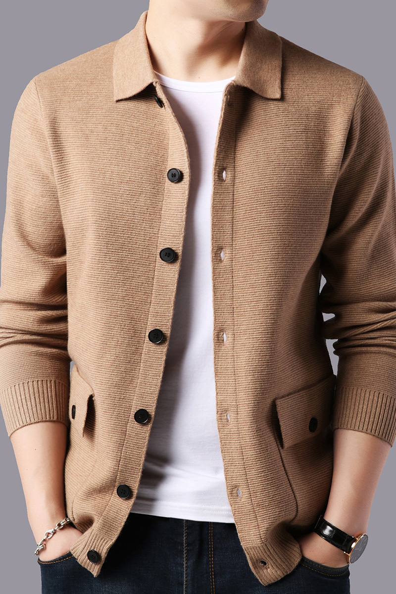 High Quality Sweater Cardigan Men's 2019 Spring And Autumn Male Fashion Knit V-neck Cardigan Jacket
