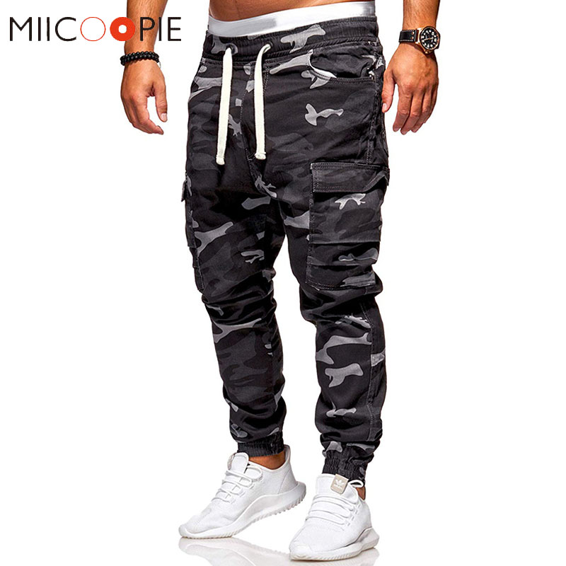 Army Military Camouflage Pants Men Casual Cotton Multi Pocket Cargo Trousers Camo Joggers Men Hip Hop Pantalon Homme Streetwear