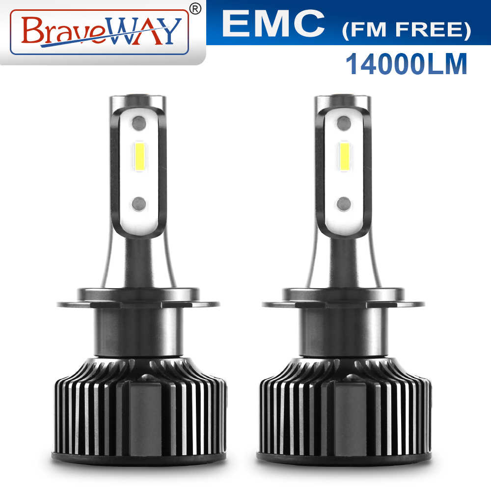 Braveway Spuer Bright LED Car Headlight Bulbs H4 H7 H11 HB3 HB4 9005 9006 CANBUS Chips EMC Circuit LED Bulbs for Auto Fog Light