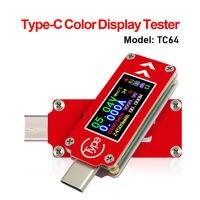 TC64 Type-C Color Screen LCD USB Voltmeter Ammeter Voltage Current Meter Capacity Energy Power Temperature Multimeter USB Tester
