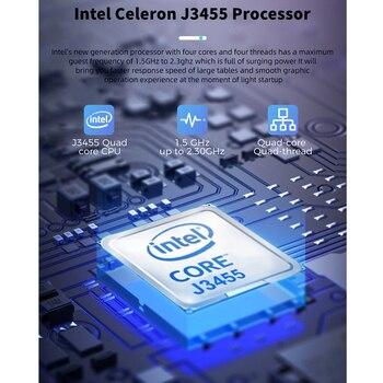 KUU A8S 15.6 inch Student Laptop 6GB RAM 256GB SSD Notebook For intel J3455 Quad Core Ultrabook With Webcam Bluetooth WiFi 2