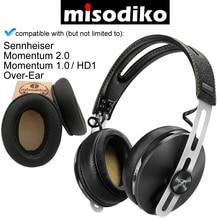 Misodiko 交換アングルクッション耳パッド ゼンハイザー勢い 2.0/1.0 (M2/M1) 、 HD1 過耳、ヘッドフォンイヤーパッド