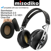 misodiko Replacement Angled Cushions Ear Pads   for Sennheiser Momentum 2.0/ 1.0 (M2/ M1), HD1 Over Ear, Headphones Earpads