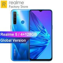 EU версия OPPO Realme 5 6,5 ''3/4 ГБ Оперативная память 64/128 ГБ Встроенная память Snapdragon 665 AIE Восьмиядерный 5000 мА/ч, 12MP+ 13MP Quad камеры мобильного телефона