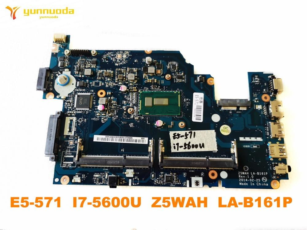 Original for ACER E5-571 laptop motherboard E5-571 <font><b>I7</b></font>-<font><b>5600U</b></font> Z5WAH LA-B161P tested good free shipping image