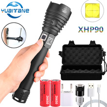 Lampe de chasse, étanche et Zoom tactique Rechargeable XHP90 lampe de poche LED XHP70.2, batterie 18650 ou 26650, le plus récent