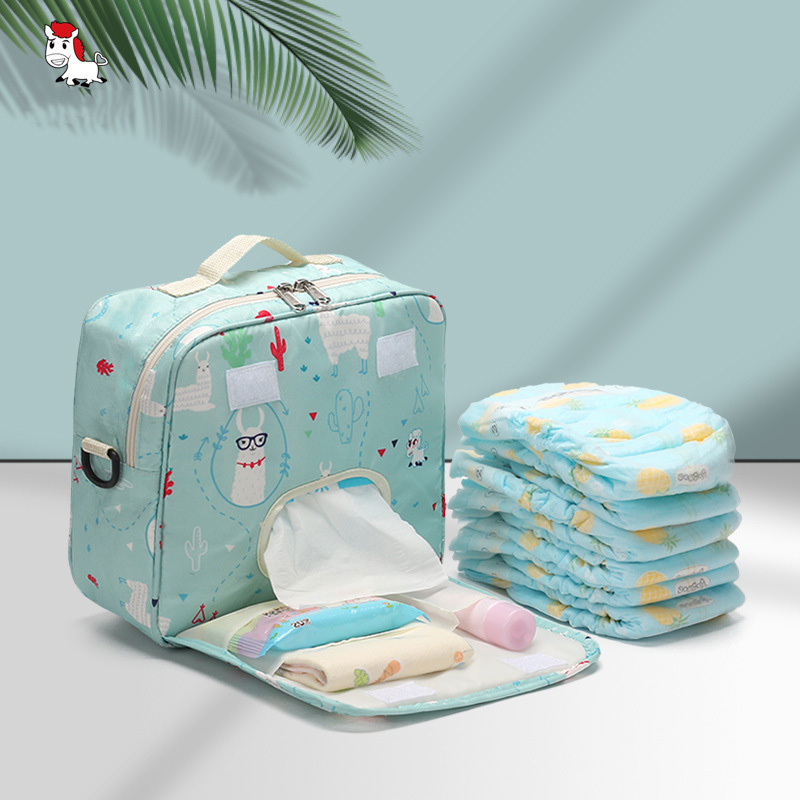 Baby Diaper Bags Maternity Bag For Disposable Reusable Fashion Diaper Storage Bag Portable Diaper Bag 22*23*10cm