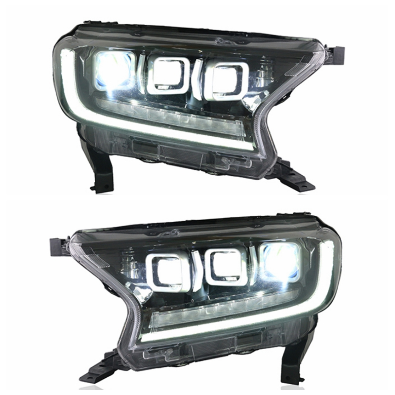 Car Accessories Set For Full LED Headlight For Ranger 2012-2019 Head Lamp With LED DRL And Moving Turn Signal LED Low&high Beams