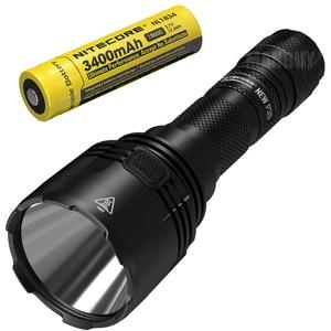 Image 1 - NITECORE NEWP30 1000 lm dalekiego zasięgu latarka taktyczna z 18650 baterii odkryty polowanie wodoodporna przenośna latarka darmowa wysyłka