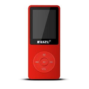Image 5 - 100% מקורי RUIZU X02 MP3 נגן עם 1.8 אינץ מסך יכול לשחק 100 שעות, 8gb עם FM, ספר אלקטרוני, שעון, נתונים