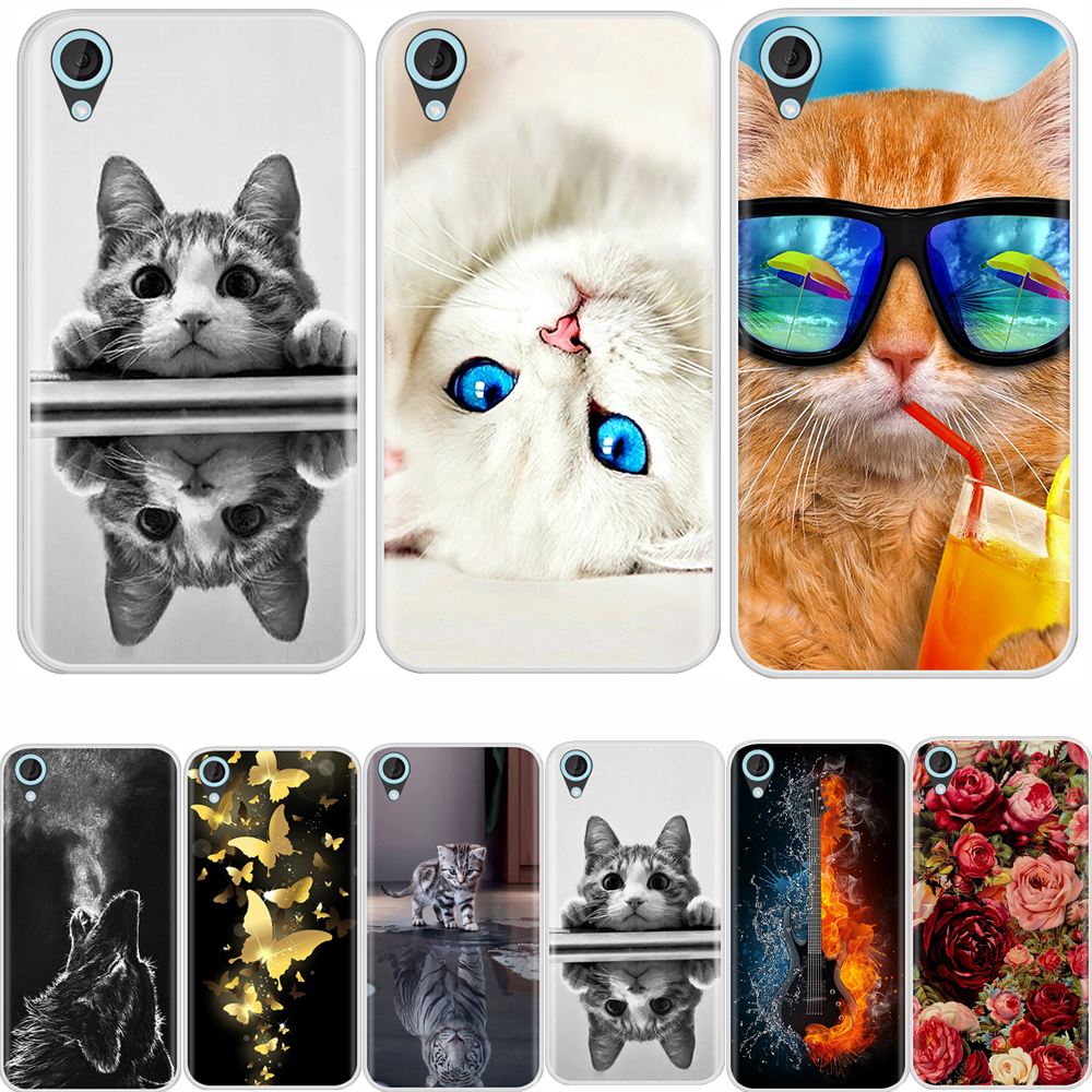 Cover Case For HTC Desire 820 Soft Silicone TPU Fashion Pattern Painted Back Cover For HTC Desire 820 Phone Cases image