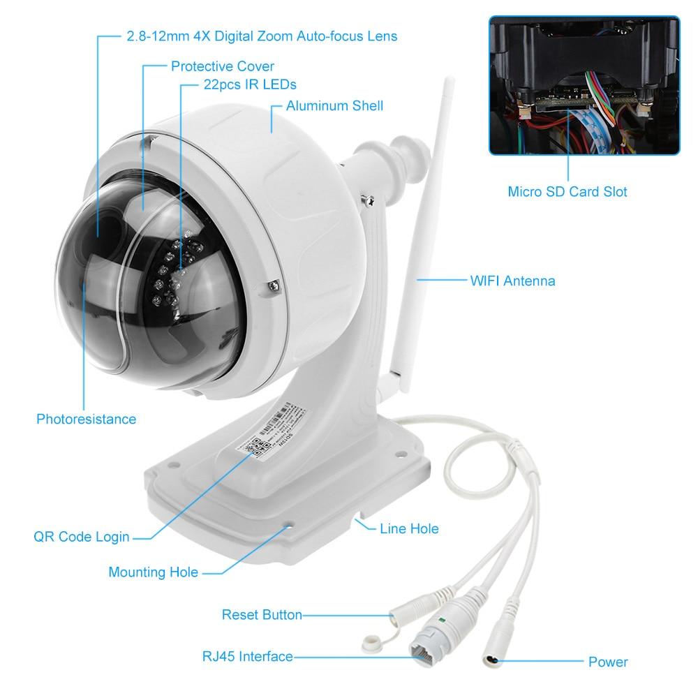 KKmoon HD 1080P caméra IP sans fil WiFi sécurité caméra de vidéosurveillance 2.8 12mm Auto focus PTZ étanche Surveillance caméra de sécurité-in Caméras de surveillance from Sécurité et Protection on AliExpress - 11.11_Double 11_Singles' Day 2
