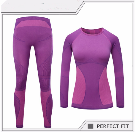 2019 New Brand Thermal Underwear Ladies Winter Quick-drying Anti-microbial Elastic Thermal Underwear Set Women Warm Long Sleeve