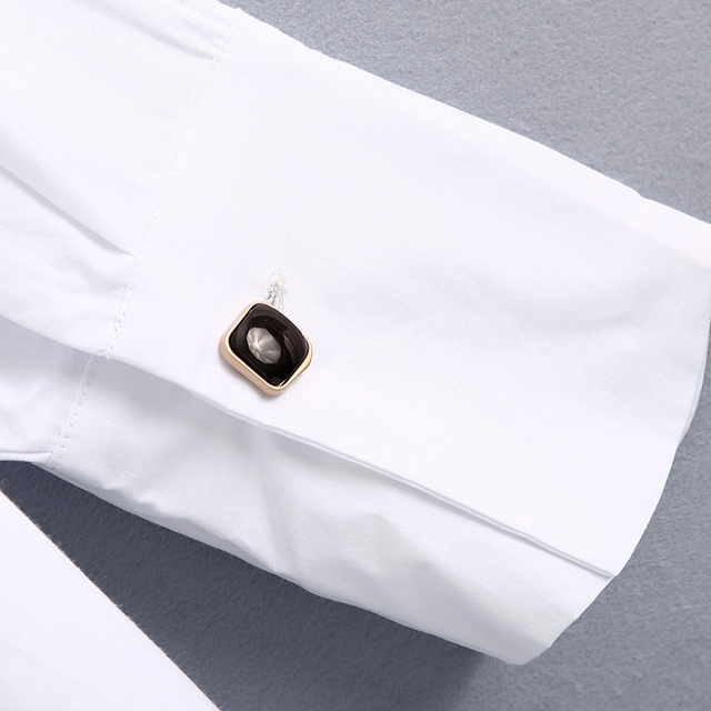 New 2020 women simply style buttons decoration casual white poplin blouse office lady side split shirts chic blusas tops LS6562 6