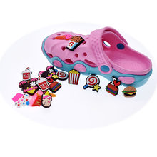 10pcs Jibitz Croc Shoe Charms Cute Food Style Cabochon PVC Shoe Accessories Garden Shoe Decoration(China)