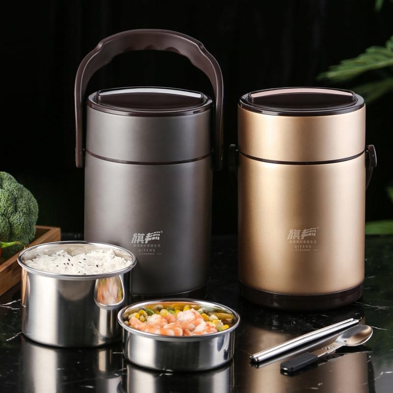 Термоусадочный контейнер для еды из нержавеющей стали 304, термос для супа с вакуумной изоляцией