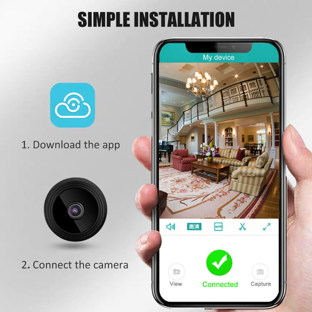 A9 Mini Camera Wireless 2.4GHz Wifi IP Home Security HD 1080P DVR Cam WI-FI TF Card Night Vision Alarm Push Camera 2