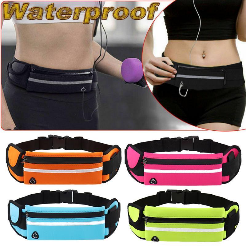 Dual Pockets Running Belt Phone Pouch Waist Bag Hiking Fanny Pack for Women Men