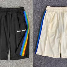 Short-Pants Angels-Letter Palm Men Casual Fashion Women Unisex Logo Models Rainbow-Lines