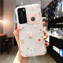 For Samsung Galaxy A51 Case Silicon 3D Relief Flower Back Cover Phone Case For Samsung A50 A30 A20 A10 S20 Plus A71 Soft Case tanie tanio JoyKiworld Fitted Case 3D Relief Flower Soft TPU Case For Samsung Galaxy A10 Case Silicone GALAXY A30 GALAXY A50 GALAXY M10
