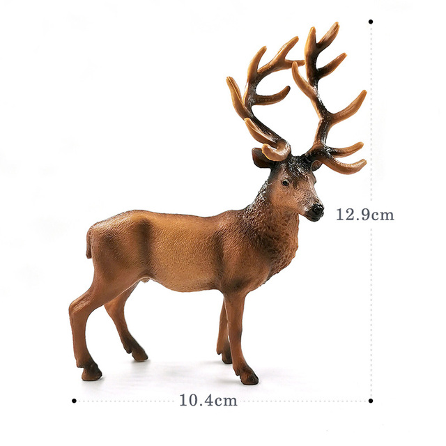 New Sika Deer Reindeer Elk figurine Simulation Animal model Diy home decor miniature fairy garden decoration accessories modern 5