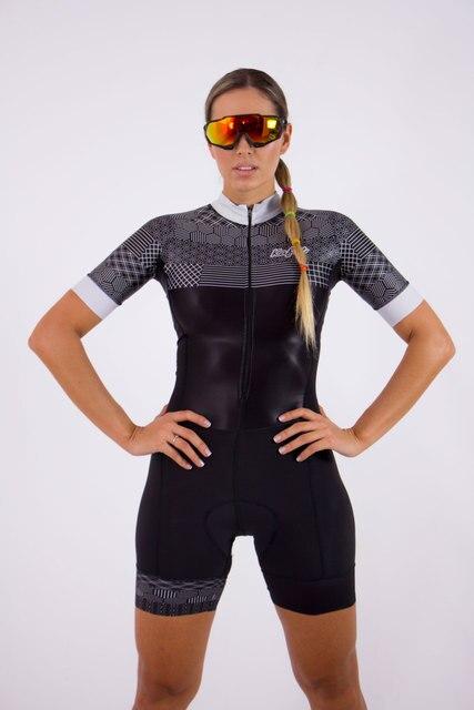 2019 macaco das mulheres triathlon manga curta ciclismo terno collants maillot ropa ciclismo terno de ciclismo macacão 4