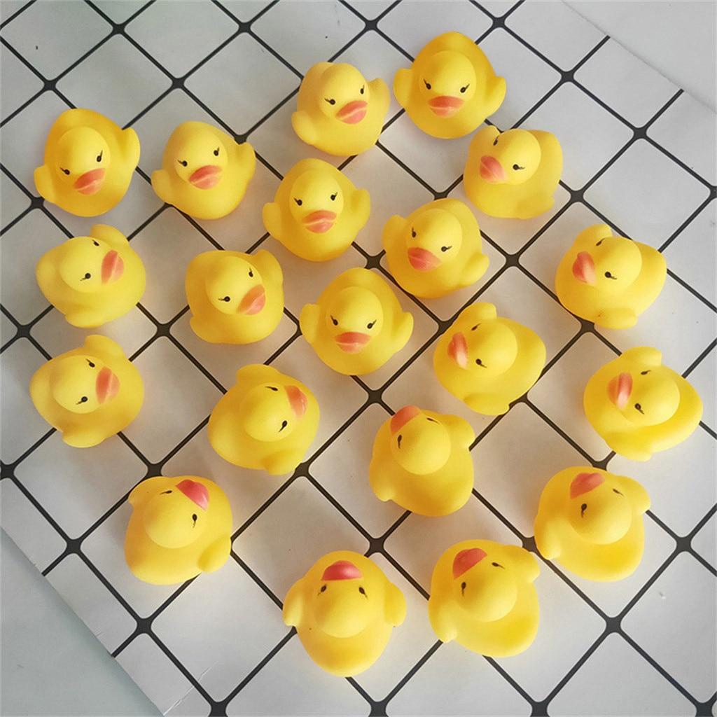 3.5cm Mini Yellow Bathtime Rubber Duck Ducks Bath Toy Squeaky Water Play