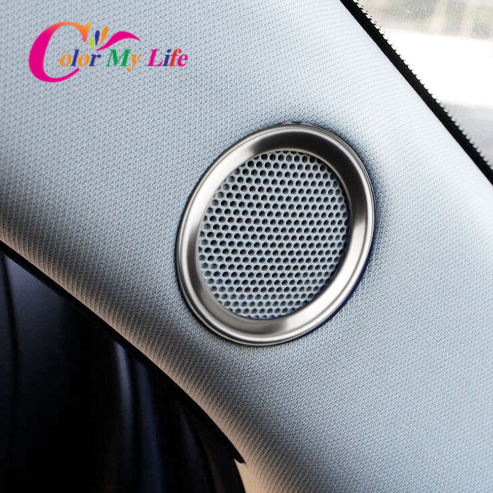 For Mazda CX-<font><b>5</b></font> CX5 Cx <font><b>5</b></font> <font><b>2017</b></font> 2018 2019 Speaker Sound Ring Trim Cover Stainless Steel Decoration Interior Moulding Accessories image