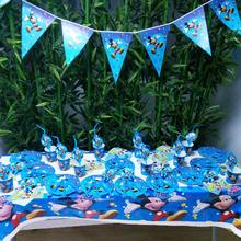 82pcs Mickey Mouse Kids Birthday Party Decoration Supplies Disposable Tableware Tablecloth Plates Cups Baby Shower Favors