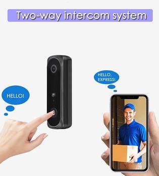 V5 Smart Wifi Video Doorbell Wifi Video Cat Eye Doorbell Door Bell Visual Recording Monitor Night Vision Door Phone