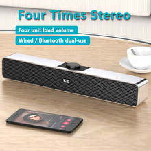 Multimedia Computer Soundbar Wired Bluetooth Speaker Home Theater 3D Stereo Super Bass Column with Microphone PS4 Universal