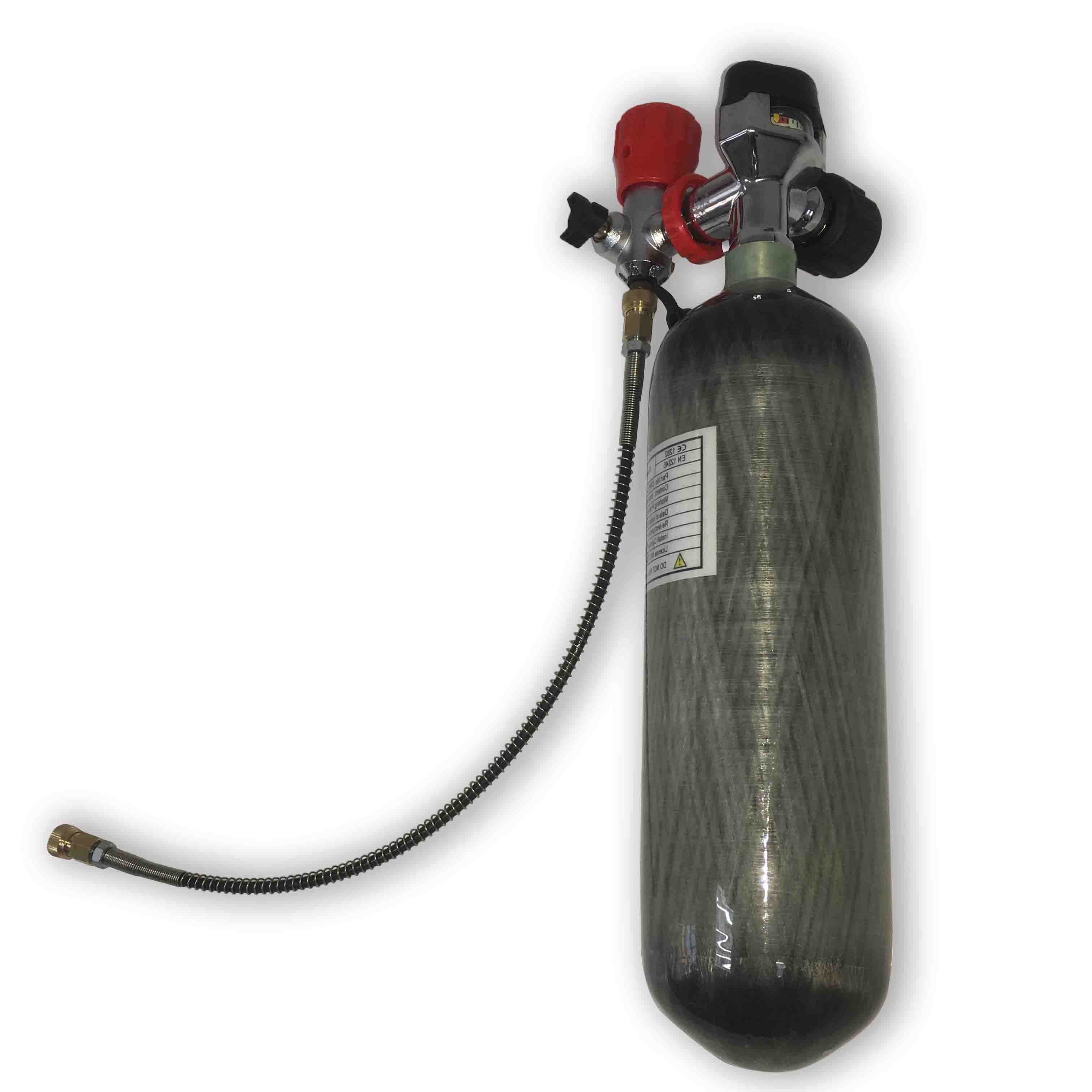 AC121721 2.17L 4500psi High Pressure Cylinders With PCP Valve For Compressed Air Weapons/Air Rifle/Underwater Gun Spearfishing