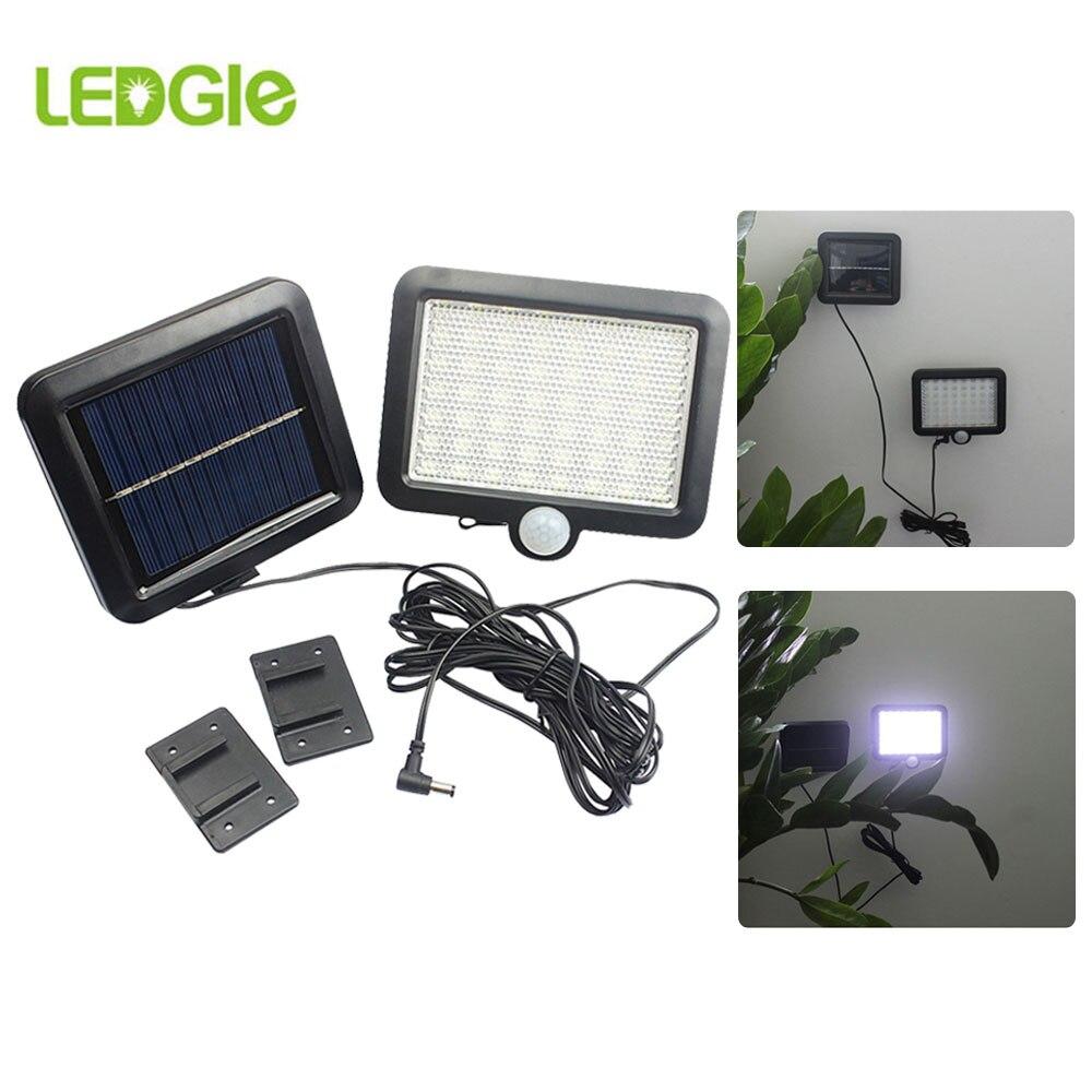 56 diodo emissor de luz solar luz solar da lampada de energia solar ao ar livre