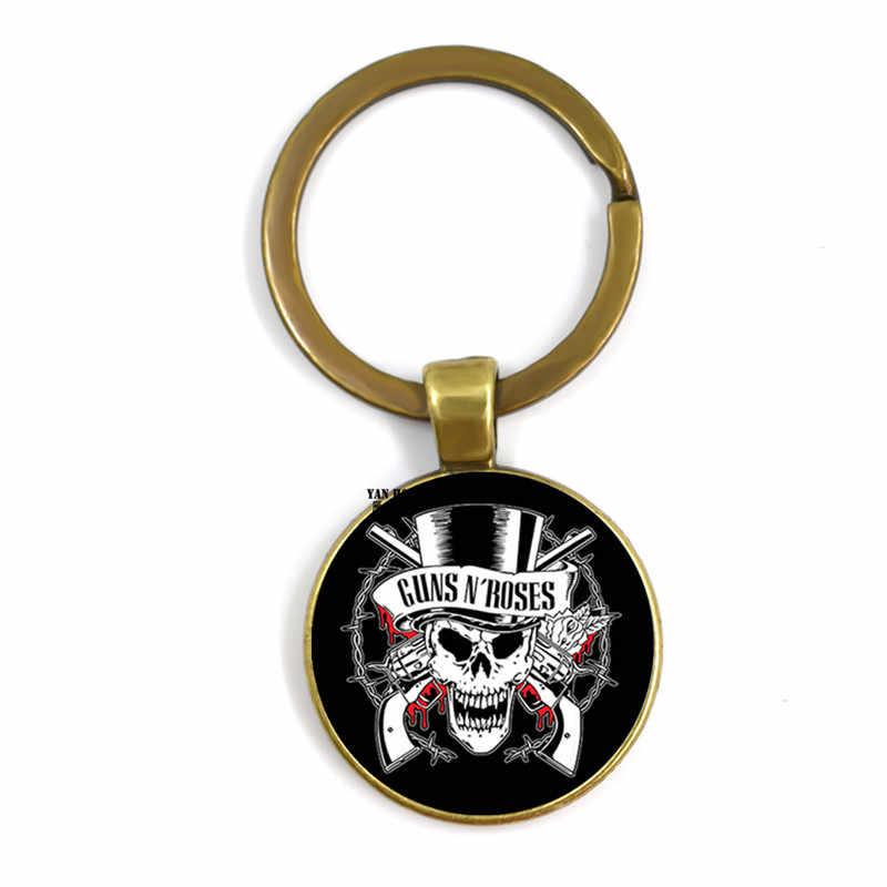 Bon Jovi fatti a mano squisito del metallo della catena chiave dell'automobile, 25 millimetri di vetro intarsiato magia palmo della mano, adatto per i regali di giovani uomini e donne