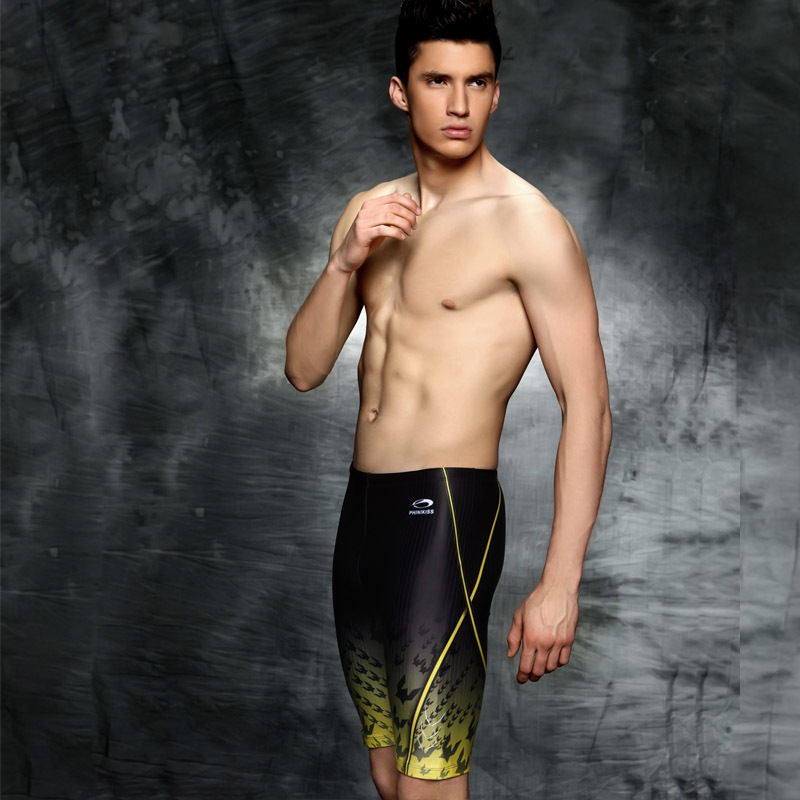 2018 PHINIKISS New Style Swimming Trunks Gradient Color Swimming Trunks Boxer Swimming Trunks Foreign Trade Racing Swimming Trun