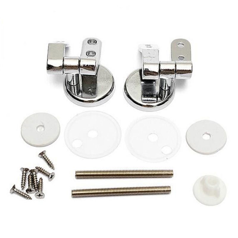 10 Pcs Set One-Set Hinge Toilet-Seat Hinge Toilet Mountings Gasket Nut-Replacement Tool Parts