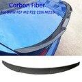 Для F87 M2 задний спойлер для крыла губ спойлер из углеродного волокна спойлер на задний багажник  крыло для BMW F87 F22 220i 228i M235i 2014-2018