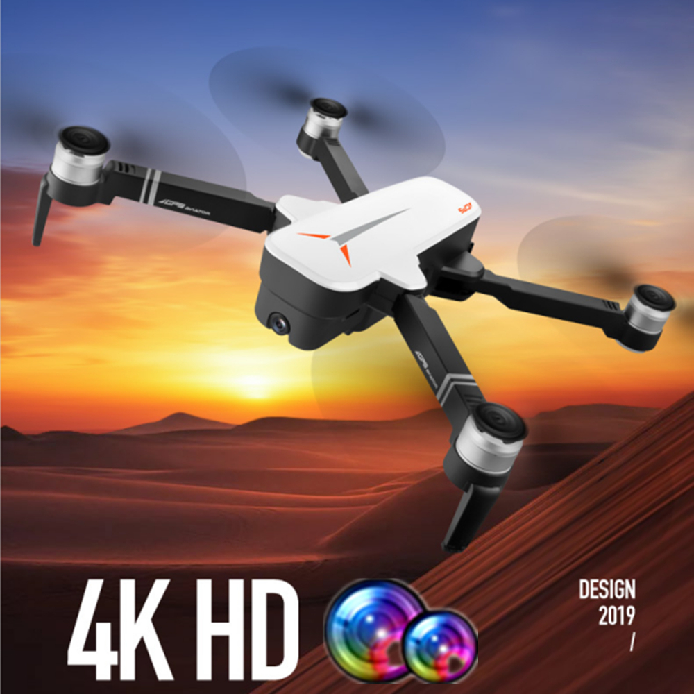 RC GPS Drone with 4K HD Dual Camera Gesture Foldable Follow Me Quadcopter with Wifi Camera Flight 23mins Dron VS F11 B4W SG906