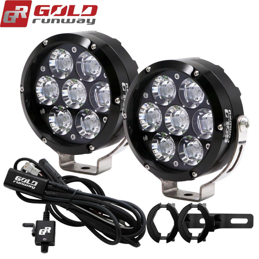 Motorcycle Auxiliary Front Spotlight Kits 20W LED Motorbike Fog Lights Universal