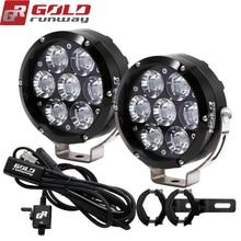 오토바이 헤드 라이트 6000k 슈퍼 밝은 7 LED 작업 스포트 라이트 오토바이 전조 등 보조 램프 스포트 라이트 유니버설 12V