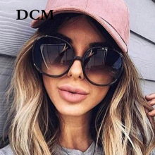 Round Sunglasses Oversized Gradient Woman Fashion-Brand UV400 DCM Newest