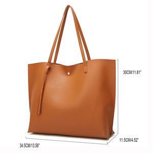 Image 3 - Women Handbag Messenger Shoulder Bags Big Leather Bag Female Black Handbag Lady Tote Crossbody Bag Popular Ladies Hand BagsGift