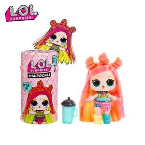 L. O. L. SURPRISE! Original lol Surprise belle poupée de cheveux 5 génération bricolage manuel boîte aveugle modèle de mode poupée fille jouet enfant cadeau