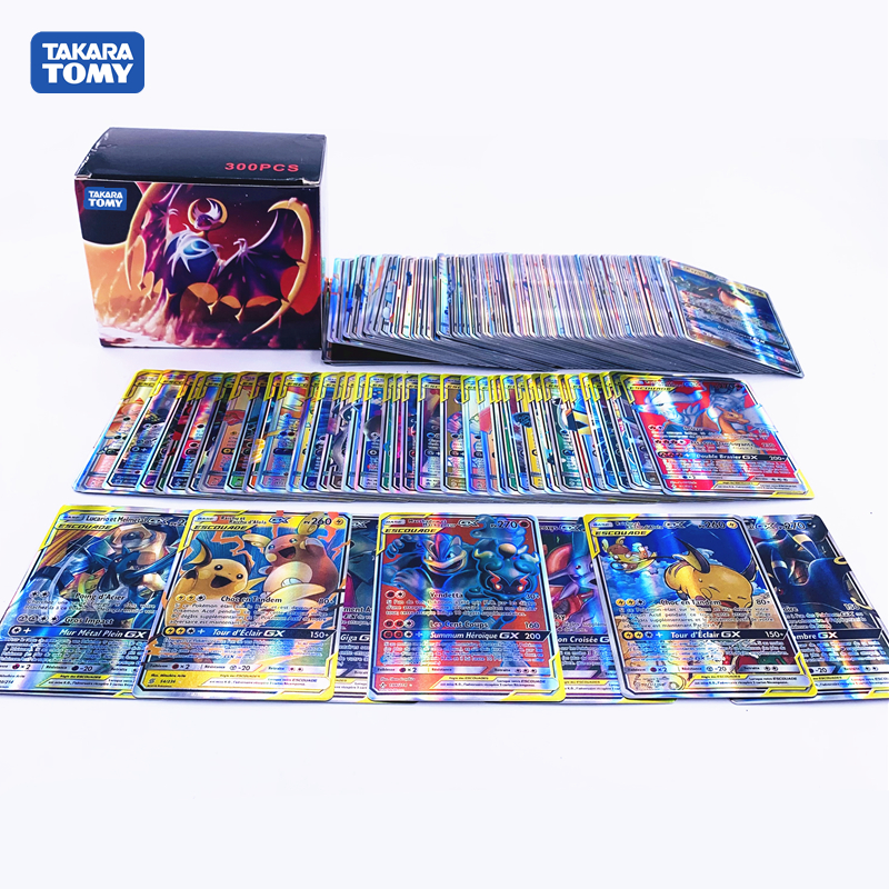 TAKARA TOMY французский Покемон карта GX тег команда Сияющие карты игра битва Carte торговая детская игрушка
