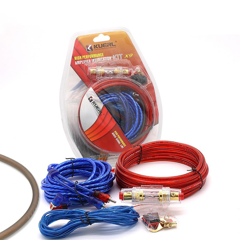 60 AMP Fuse Holder 8GA Power Cable Subwoofer Speaker Car Audio Wire Wiring Amplifier Installation Wires Kit