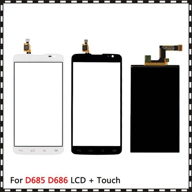 Nowy wysokiej jakości 5.5 dla LG G Pro Lite D685 D686 na dwie karty sim wyświetlacz Lcd z ekranem dotykowym Digitizer czujnik