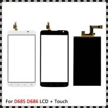 Yeni yüksek kalite 5.5 için LG G Pro Lite D685 D686 çift kart Lcd ekran ile dokunmatik ekran Digitizer sensörü
