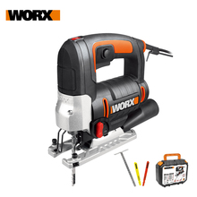 Worx 650W Jigsaw WX478.1 Electric Saw Scroll Saw Mini Jigsaw Curve Saw Variable Speed Household Power Tool Dust Blower +Tool box